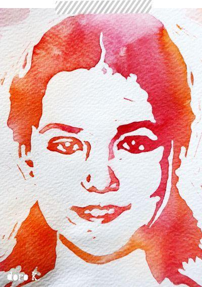 So Kannst Auch Du Ein Aquarell Portrat Malen Watercolor