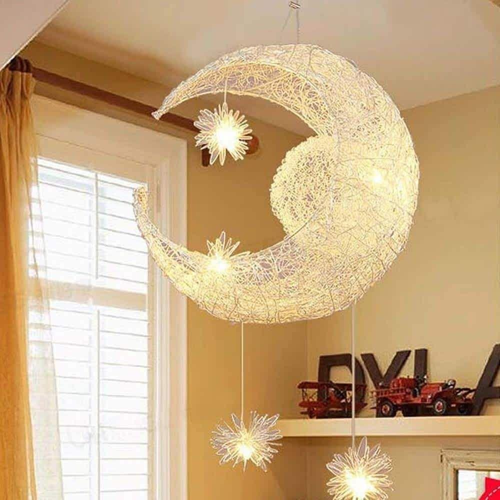Lamp Moon Star Pendant Hanging Light Star Pendant Lighting Shape Pendant Light Star Pendant Lamp