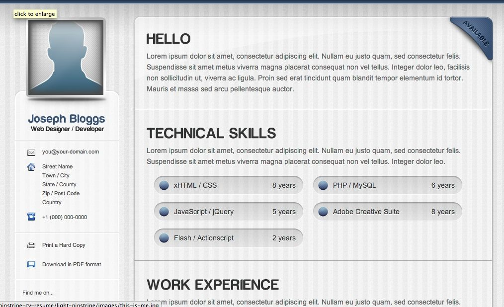 Awesome Html Cv Template Collection Html Resume Templates Html Cv Template Here Is Awesome Html Cv Temp Cv Resume Sample Resume Templates Resume Template Free