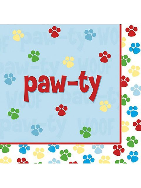 Dog Party Napkins Puppy Dog Party Supplies check website for