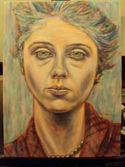 A tutorial instructing how to paint an acrylic portrait step by step