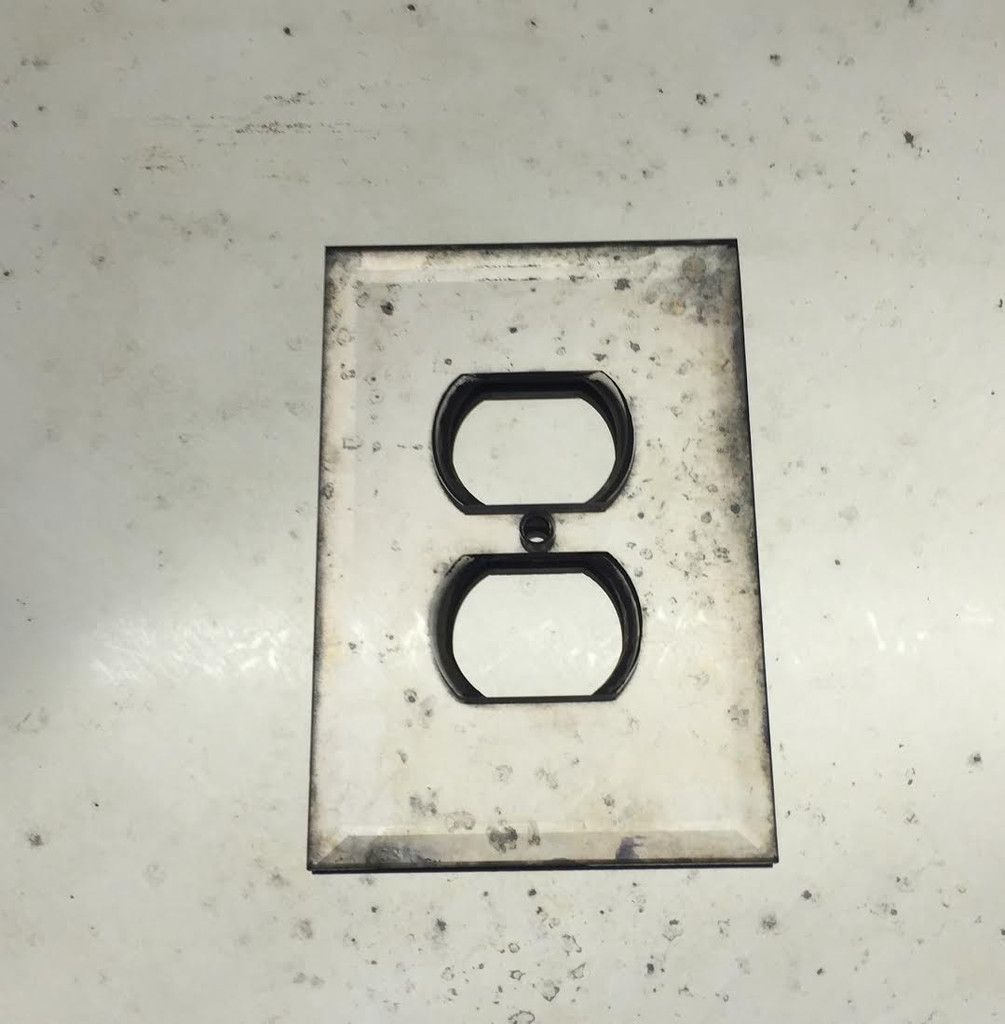 Antique Mirror Glass Outlet Cover Or Switchplate Single