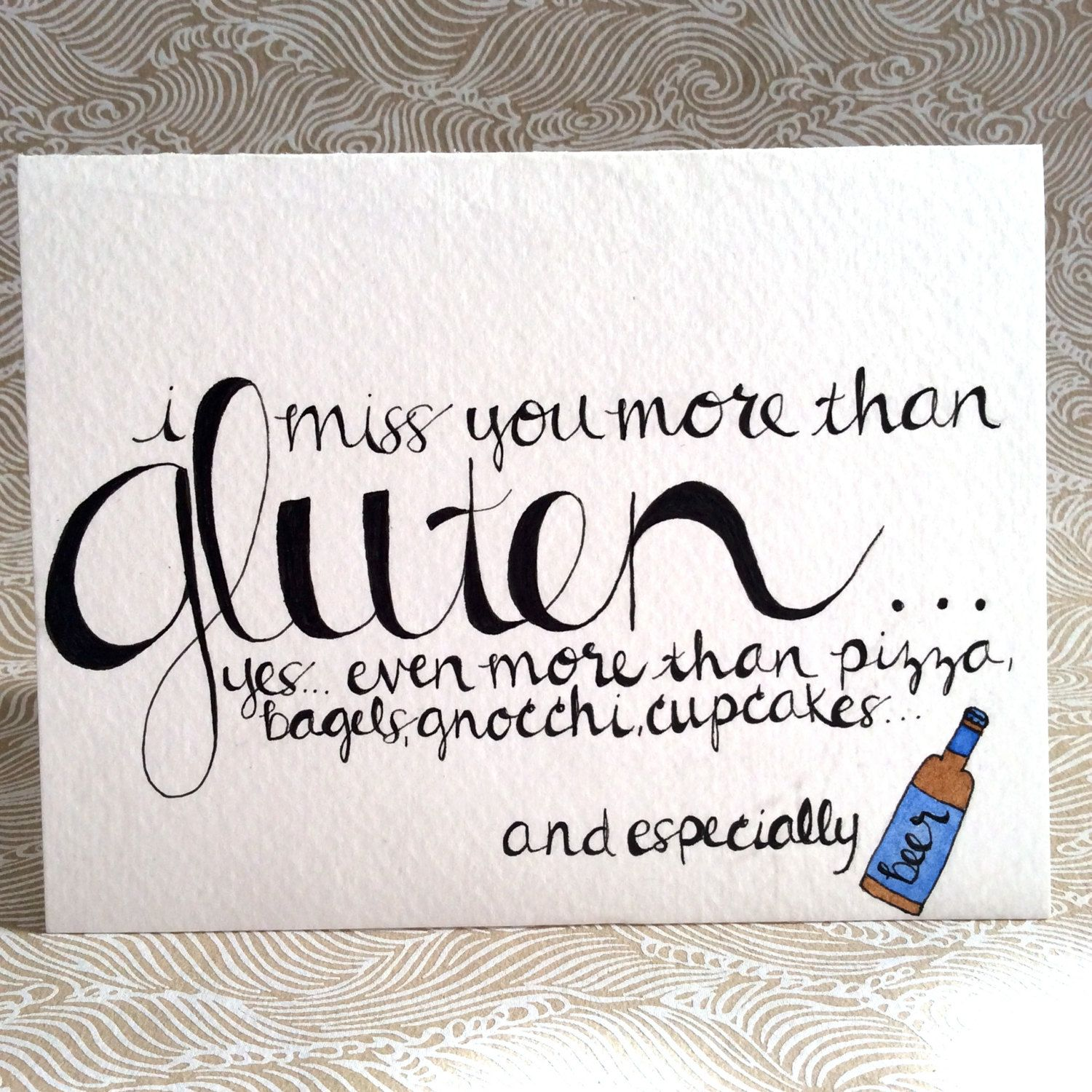 I miss you card i miss you more than gluten yes even more i miss you card i miss you more than by designsbyannalise on etsy 500 kristyandbryce Image collections