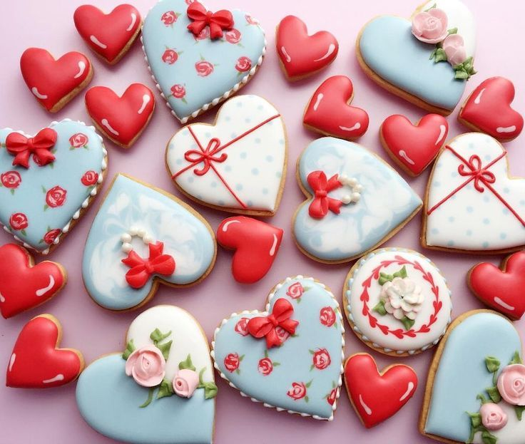 esempio fiocco valentines day pinterest sugar cookies cookie decorating and heart cookies - Decorated Valentine Cookies