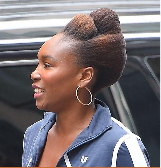 She Slayed That Venus Williams Debut S A Totally Cute Natural Hair Updo Natural Hair Updo Natural Hair Styles Beautiful Black Hair