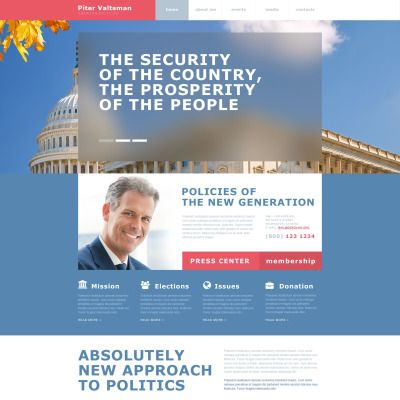 Political Candidate Muse Template Muse, Adobe and Templates - political brochure