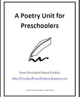 free a poetry unit for preschoolers literacy activities poetry unit kindergarten poetry. Black Bedroom Furniture Sets. Home Design Ideas