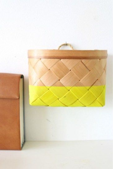 Simple DIY for a Rainy Day - Dip Dye Basket
