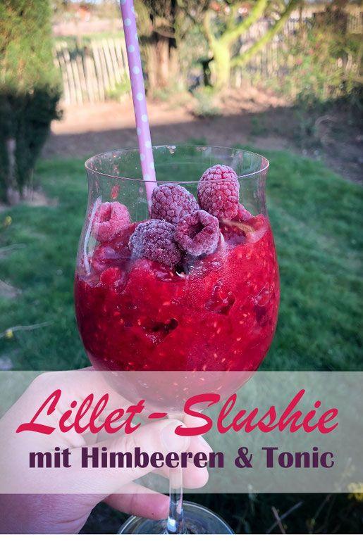 Photo of Lillet-Slushie. Mit Himbeeren.