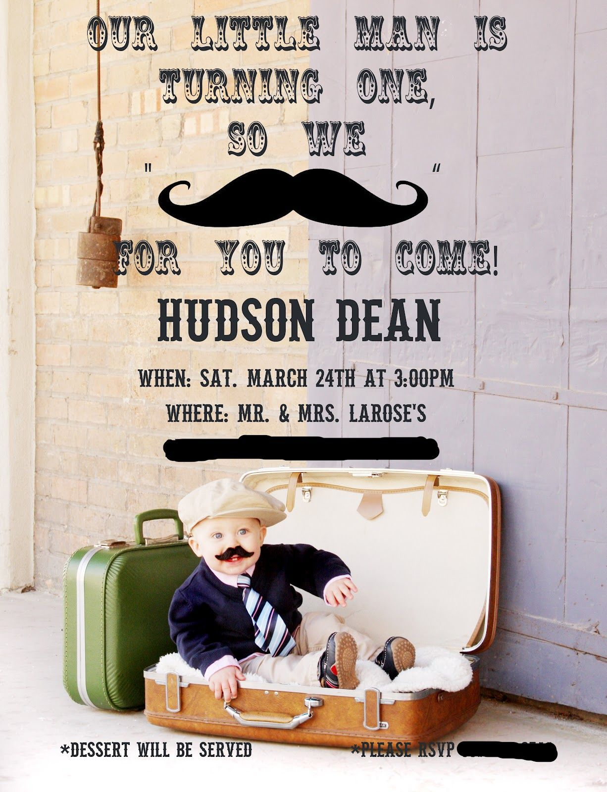 mustache cake ideas | made this cute invitation using Adobe ...