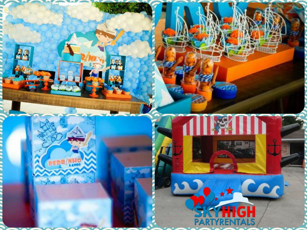 Houston pirates adventure galley bounce house rentals