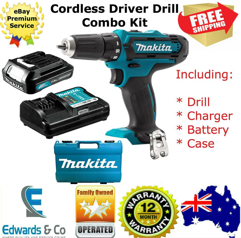 Details About Cordless Driver Drill 12v Kit 1 5ah Battery Charger With Case 2 Speed Makita Drill Cordless Power Tools Battery Charger