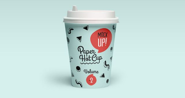 Psd Paper Hot Cup Template Vol2 Psd Mock Up Templates Pixeden Paper Cup Design Coffee Cup Design Paper Coffee Cup