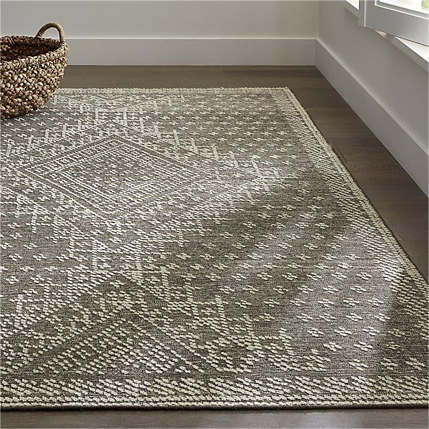 mirren grey wool oriental rug | crate and barrel | homebody