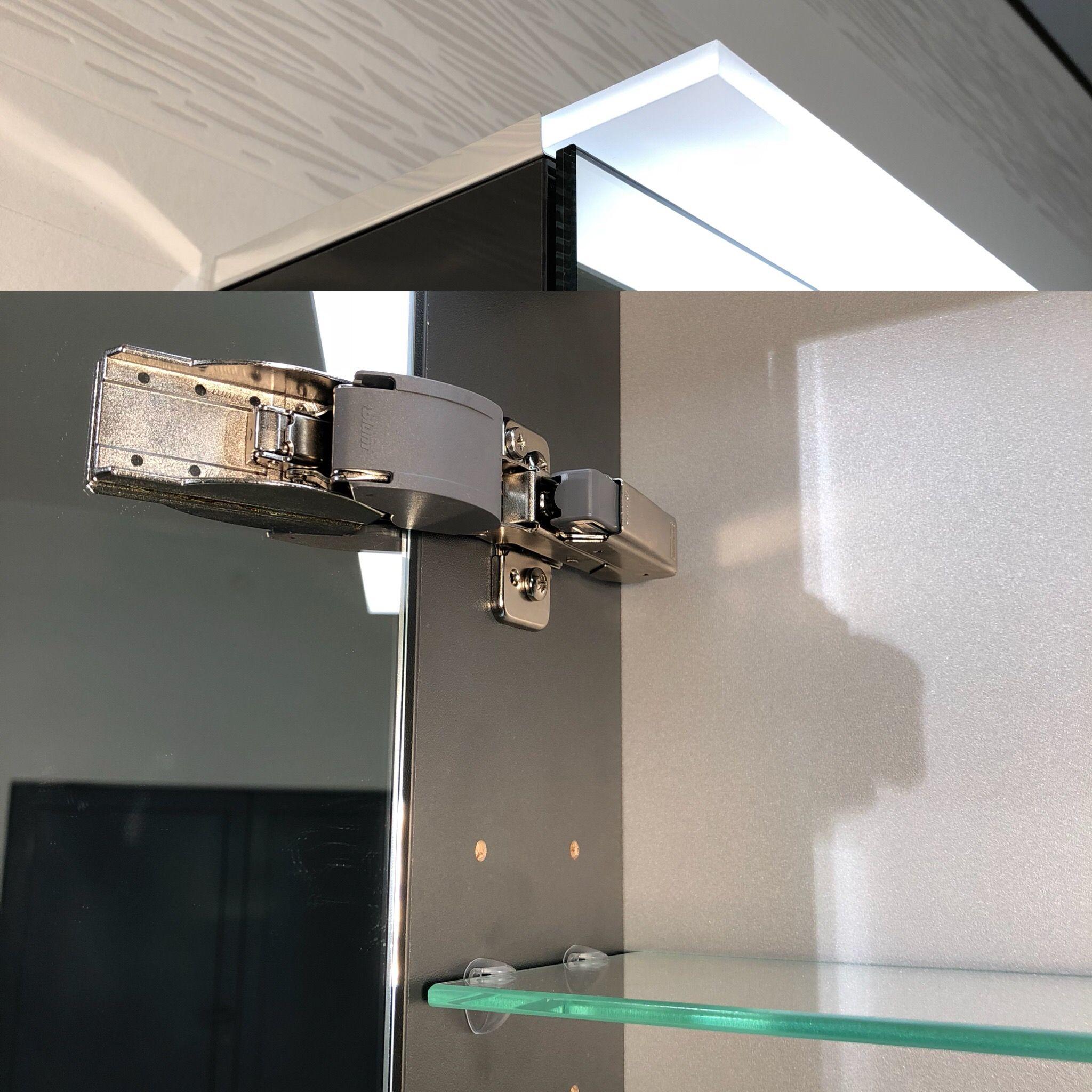 Bad Spiegelschrank Mit Heller Oder Gedimmter Beleuchtung Led Als State Of The Art Das Optimale Bad Spiegelschrank Spiegelschrank Beleuchtung Badezimmer Licht