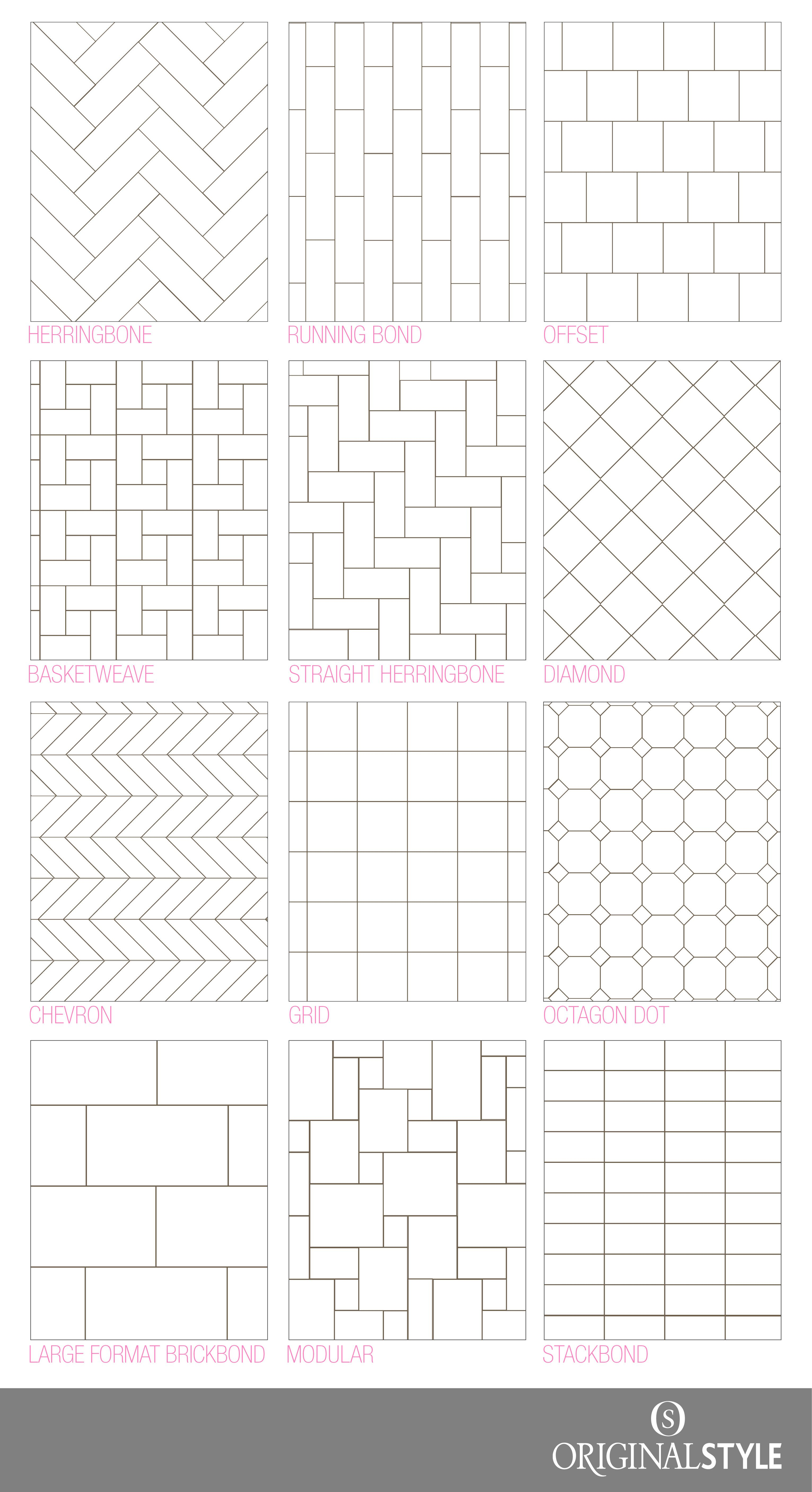 Your Guide To Tile Pattern Layouts Patterned Bathroom Tiles