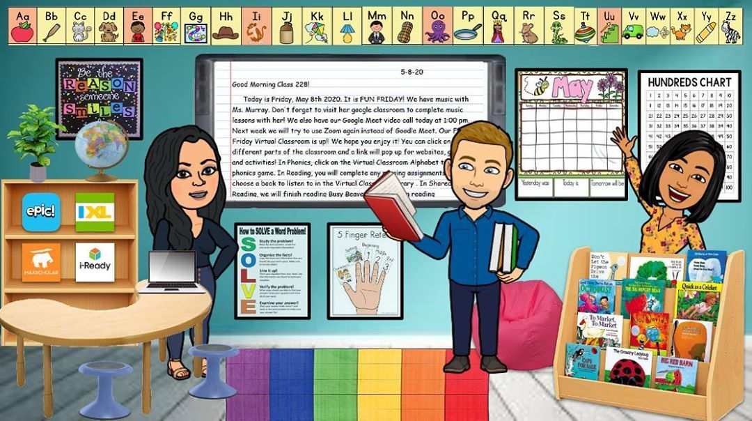 Teachers Are Creating Virtual Bitmoji Classrooms Cute And Helpful Too Virtual Classrooms Digital Learning Classroom Blended Classroom