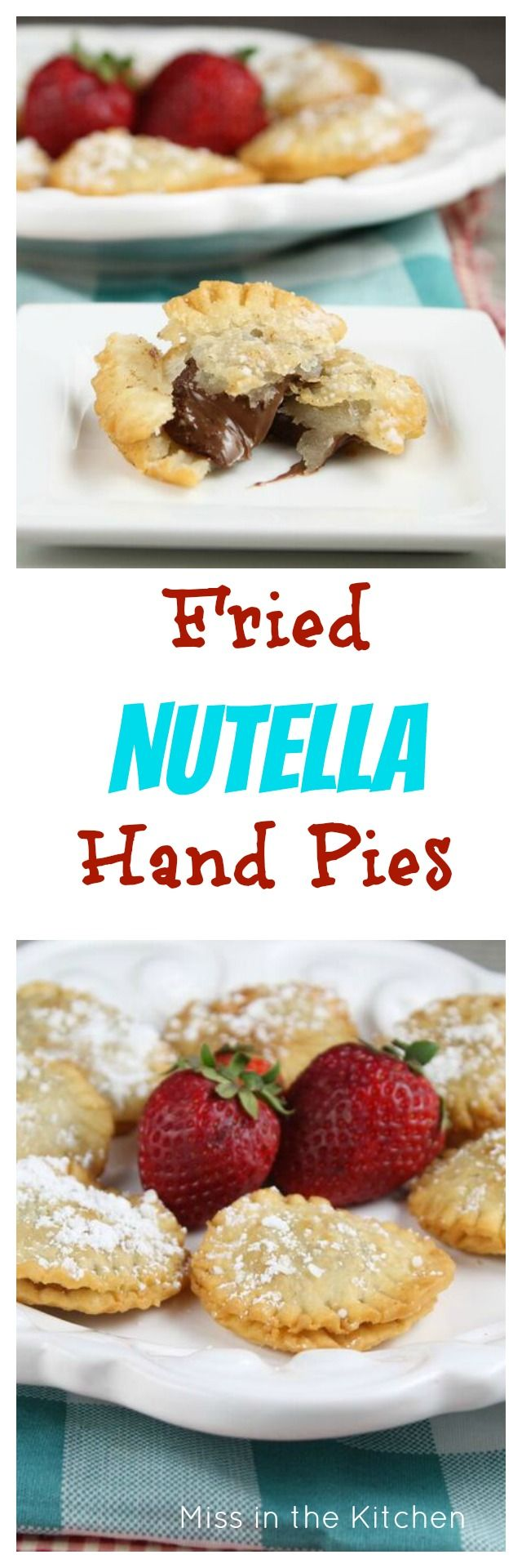 Fried Nutella Hand Pies | Dessert recipes easy, Easy ...