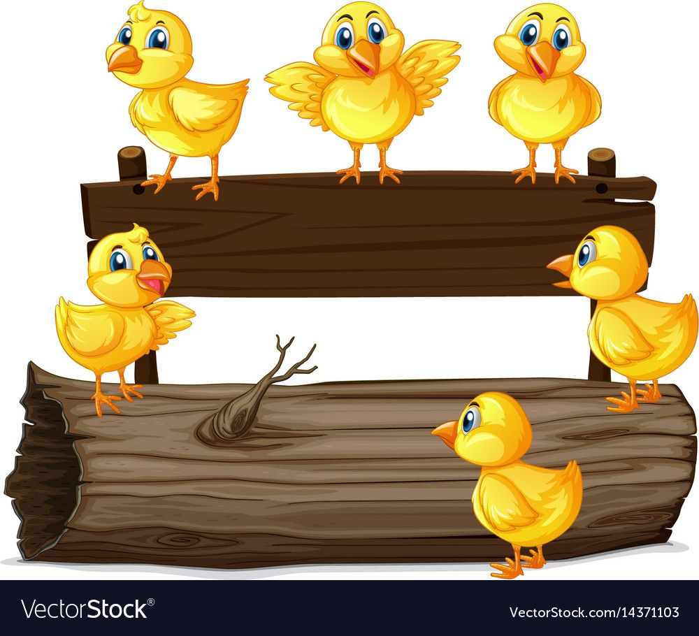 Wooden Sign With Six Chicks Illustration Download A Free Preview Or High Quality Adobe Illustrator Ai Eps Pdf And H Cartoon Clip Art Wooden Signs Farm Theme
