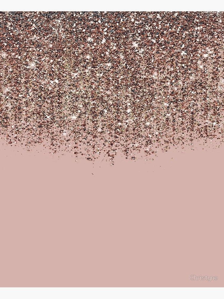 Blush Pink Rose Gold Bronze Cascading Glitter | Lienzo #goldglitterbackground