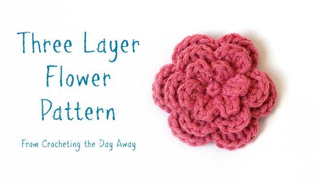Three Layer Flower Pattern Dakotah Knits Pinterest Flower