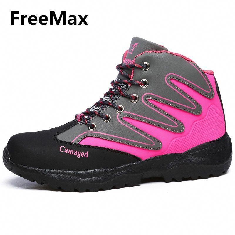 Men Women Leather Hiking Boots Outdoor Sports Shoes Climbing Mountain Sneakers Women Trekking Shoes...