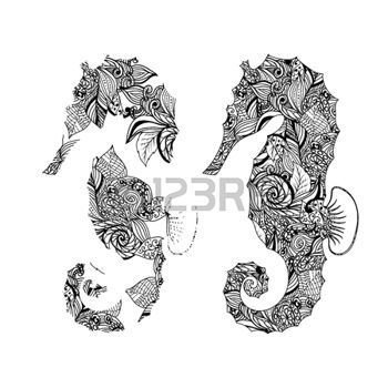 Tribal seahorse stock photos pictures royalty free tribal seahorse images and stock photography