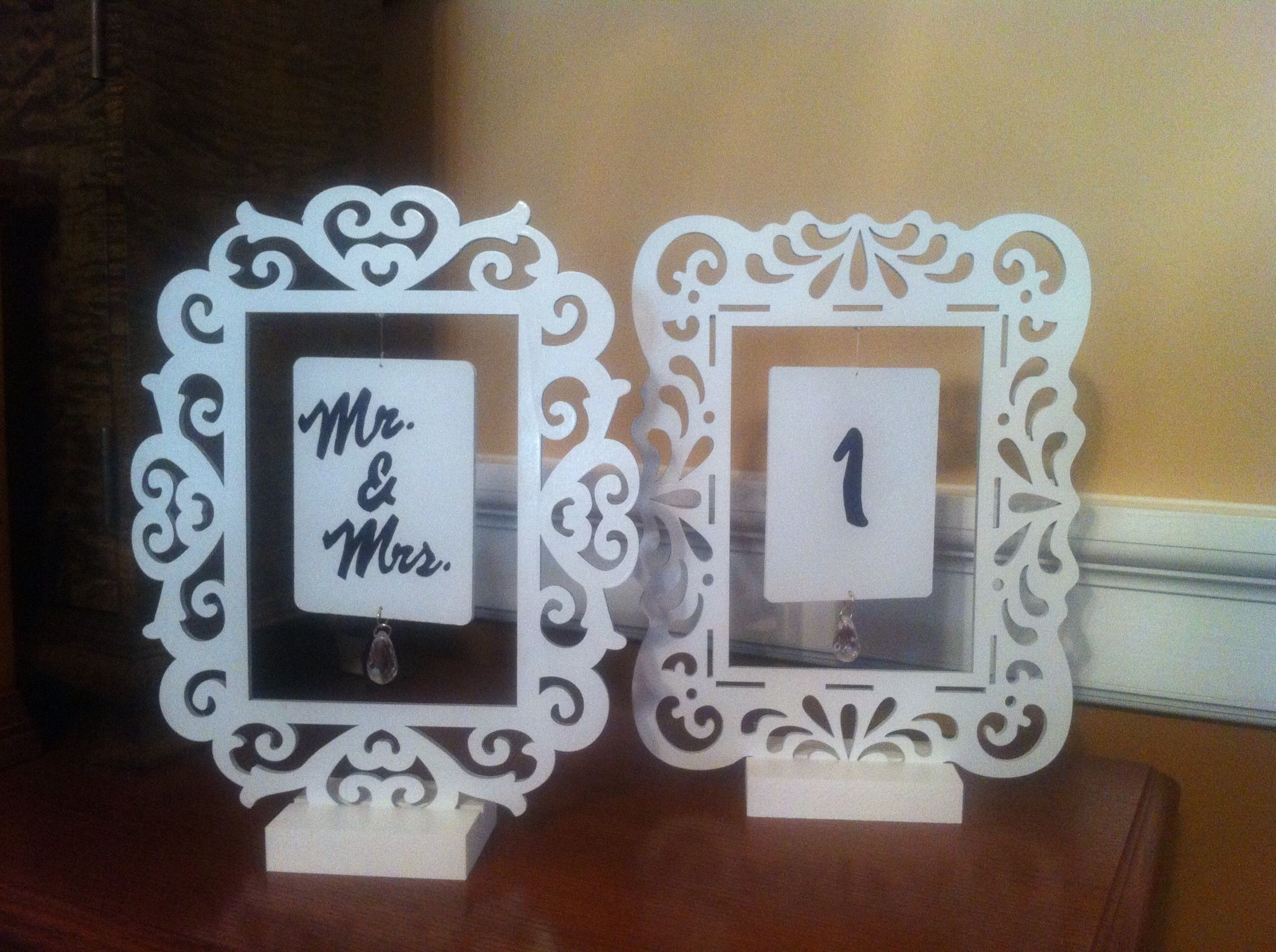 Table numbers my dad made! | Table numbers, Decor, Home decor