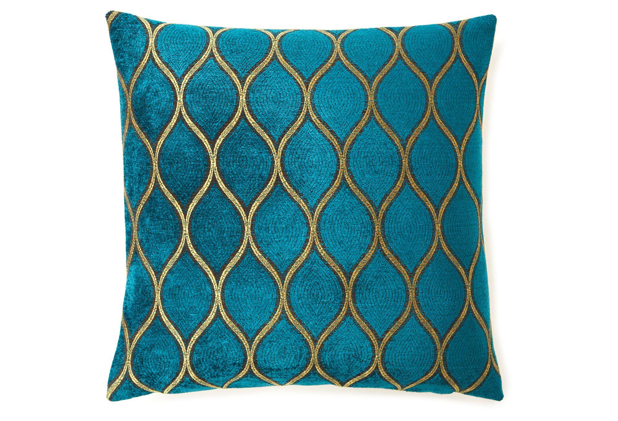 Turning 16x16 Pillow, Teal   Gold throw pillows, Pillows, Throw