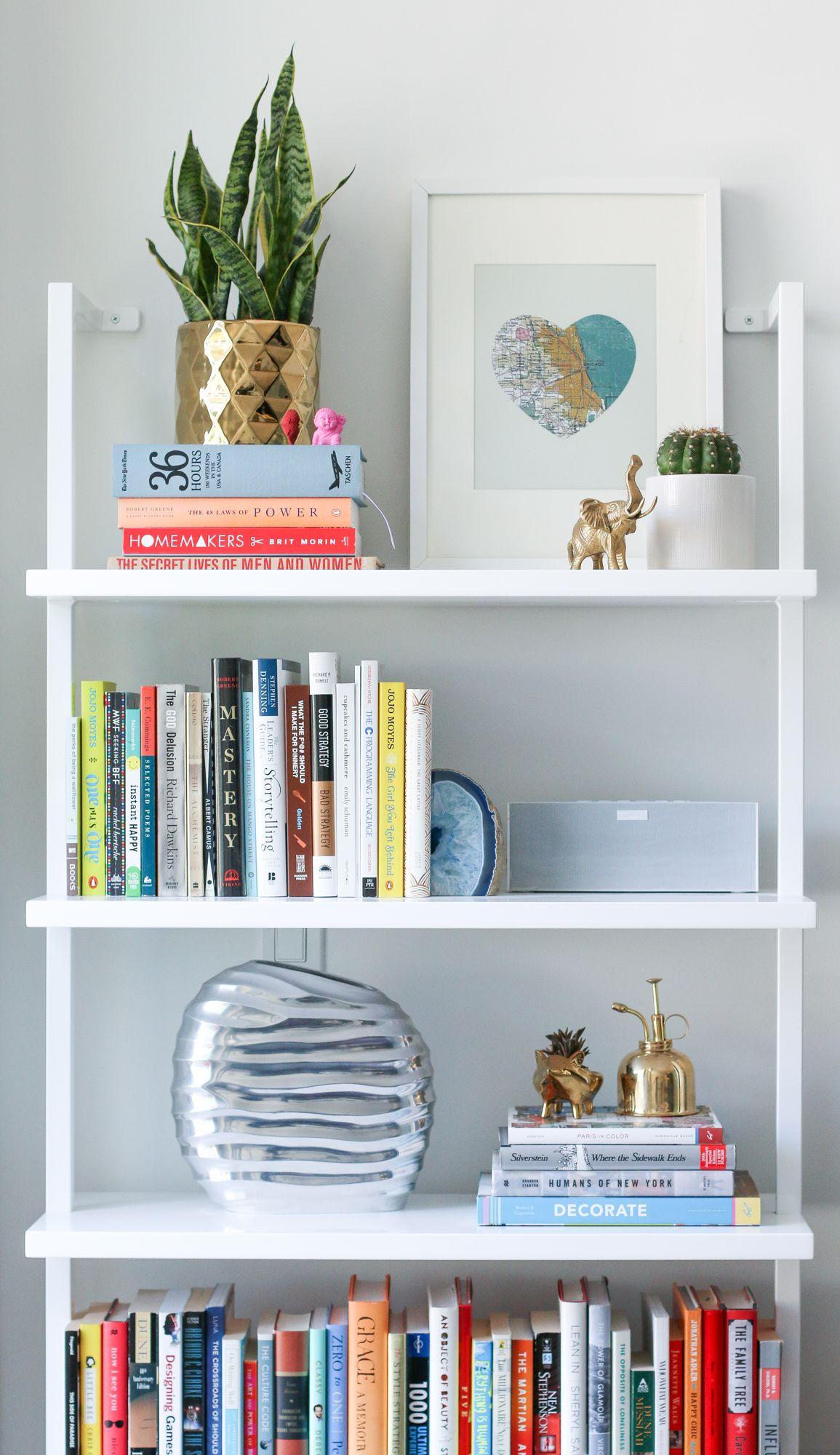 5 tips for styling bookshelves