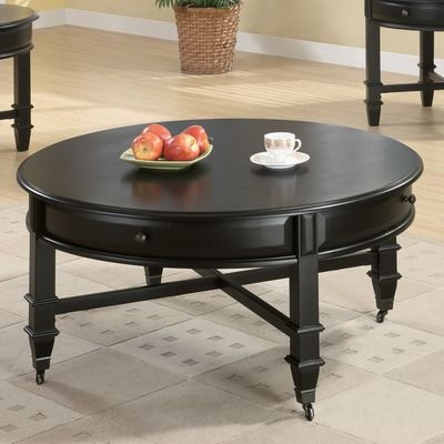 Best Wildon Home ® Cronin Coffee Table Round Black Coffee 400 x 300
