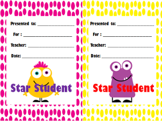 CCSS Assessment Giveaway Winners and Monster Decor Freebie