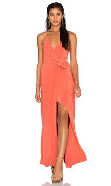 MISA Los Angeles Veronika Maxi Dress in Burnt Orange