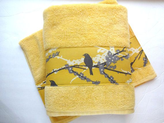 Yellow And Grey Towels Hand Towels Towel Sets Bath Towels Gray And Yellow Joel Dewberry Custom Towels Decorated Towels August Ave Yellow Towels Hand Towels Towel Set