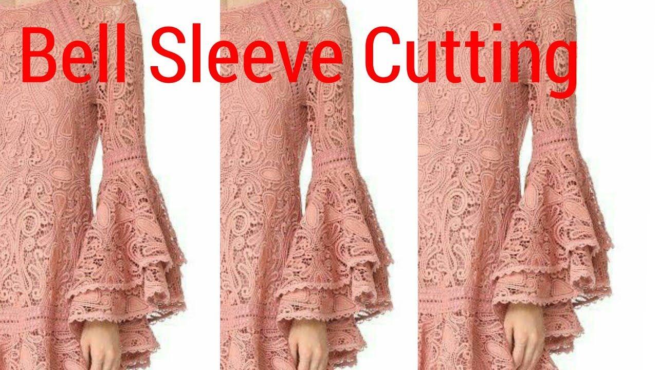 6242c97cf62c Bell Sleeve Cutting With Designer Pattern - YouTube | salwar kameez ...