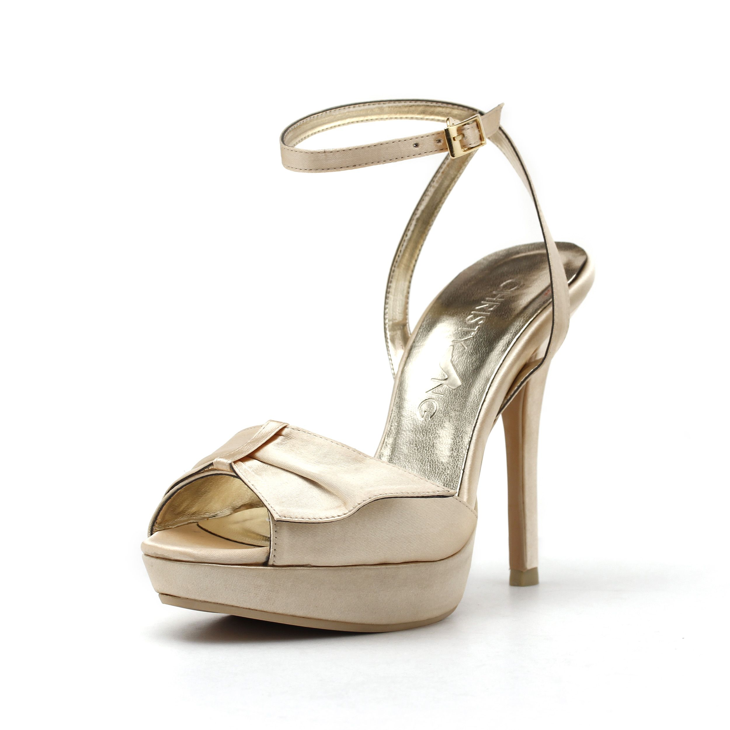 Christy Ng's new design of Lover Girl. Simple yet elegant. Strap on this shoe to complete your look for an evening occasion. Desire for more shoe choices, visit http://www.ChristyNg.com