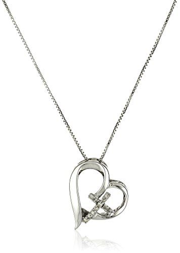 Sterling silver diamond accent open heart faith hope love pendant sterling silver diamond accent open heart faith hope love pendant necklace amazon collection http aloadofball Gallery