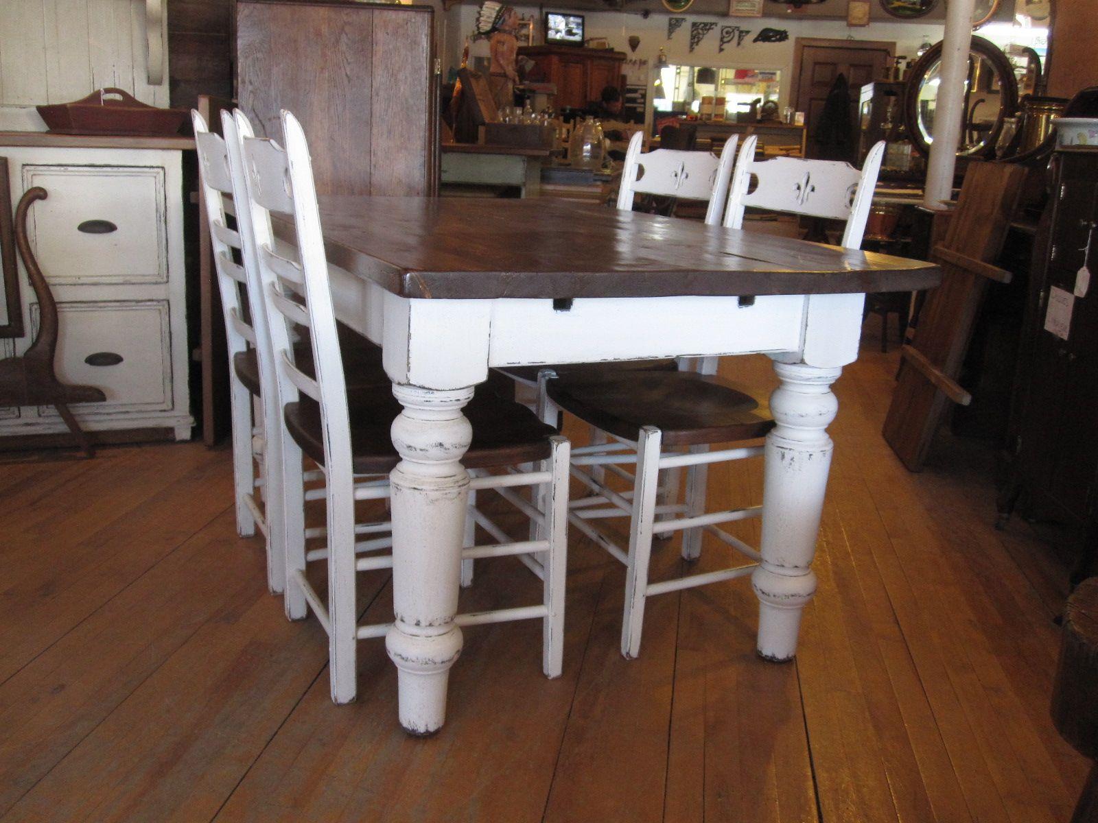 Antiquita C Et Cuisine Antique Champaªtre Rustique Classique Sur Mesure En Pin Ou Vieux Bois Dining Table Rustic Dining Table Decor