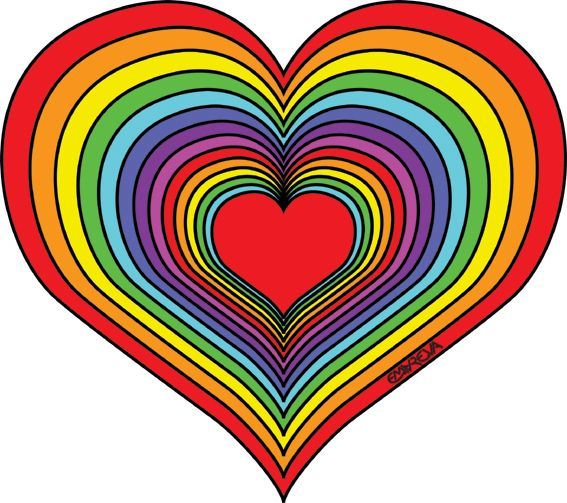 Rainbow Heart Coloring Pages With Images Heart Coloring Pages