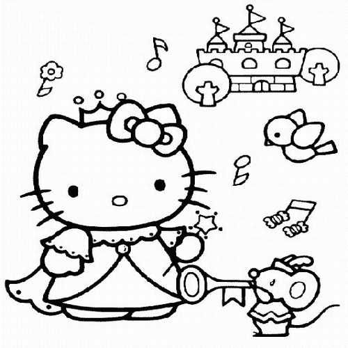 Princess Hello Kitty  Kids Coloring Pages  Pinterest  Hello