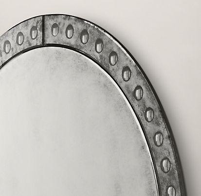 All Mirrors Rh Antique Glass Mirror Round Mirrors