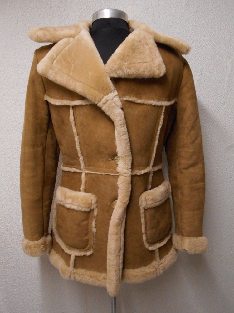 Vintage RANCHER 100% SHEARLING Sheepskin COAT Youth Boy's 14 Large ...