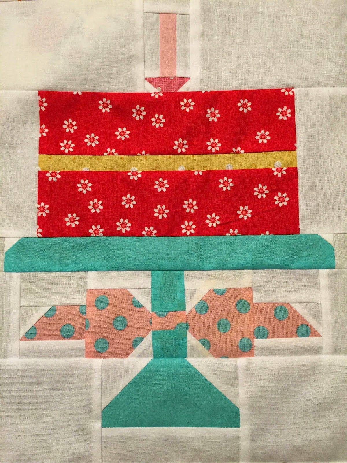 Lori Holt Designed This Cake Block To Celebrate The Year Anniversary Of Her Quilty Fun Quilt Book