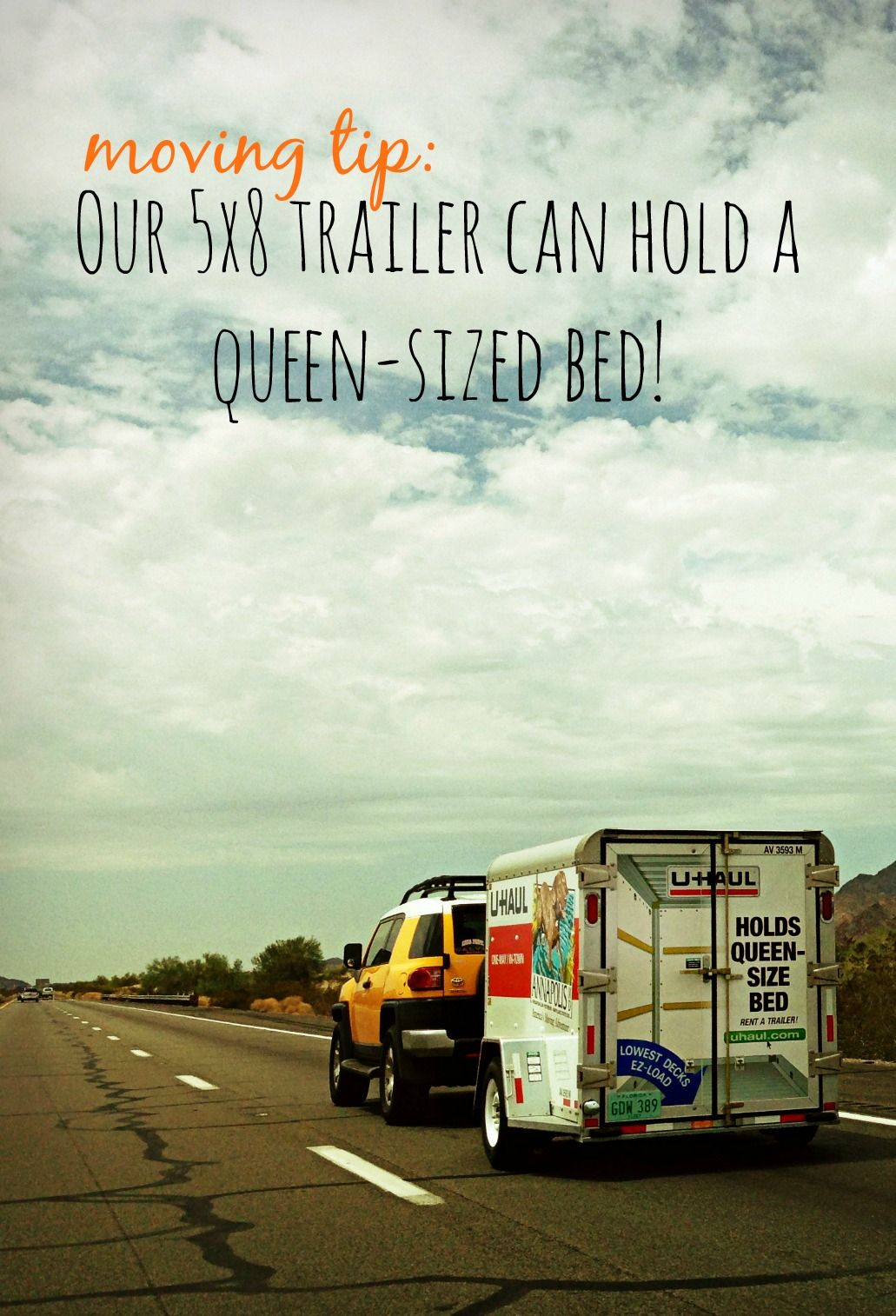 U Haul Trailer Sizes >> Did You Know That Our 5x8 Trailer Can Hold A Queen Sized Bed