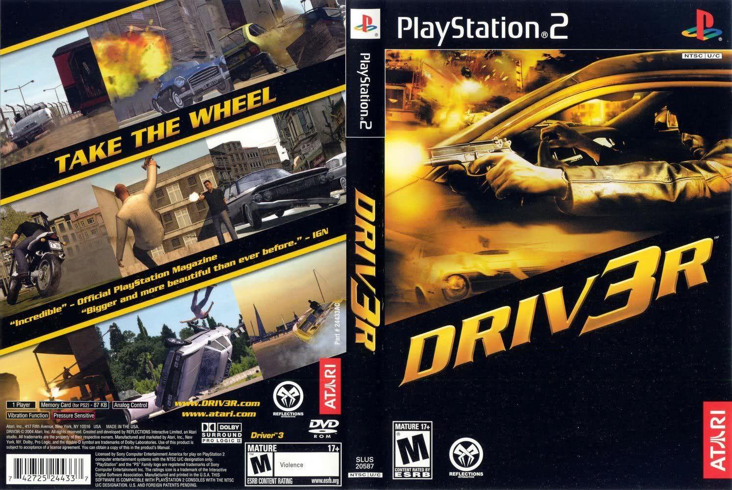 Driver 3 Playstation 2 Driv3r Playstation Videojuegos