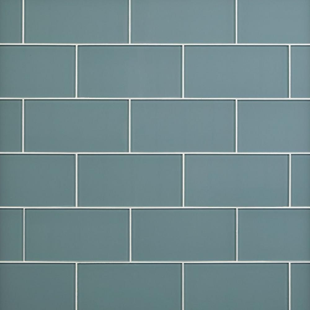 Spa Blue Glass Tile - 6 x 12 - 100465723 | Floor and Decor | Hicks ...