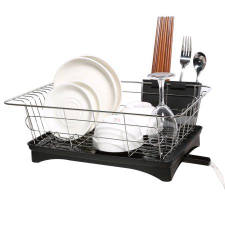 Dish Drying Rack Walmart Mesmerizing Hk Antimicrobial Sink Dish Rack Dish Drainer Multifunction Sturdy Design Decoration