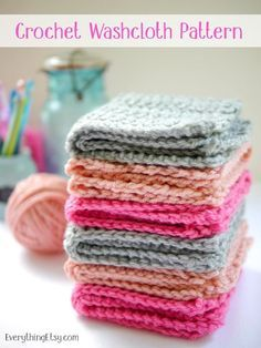 cefd3d197f1 27 Crochet Projects That Are Going To Make You Want To Learn How To Crochet   Crochet Washcloth Pattern from Everything Etsy