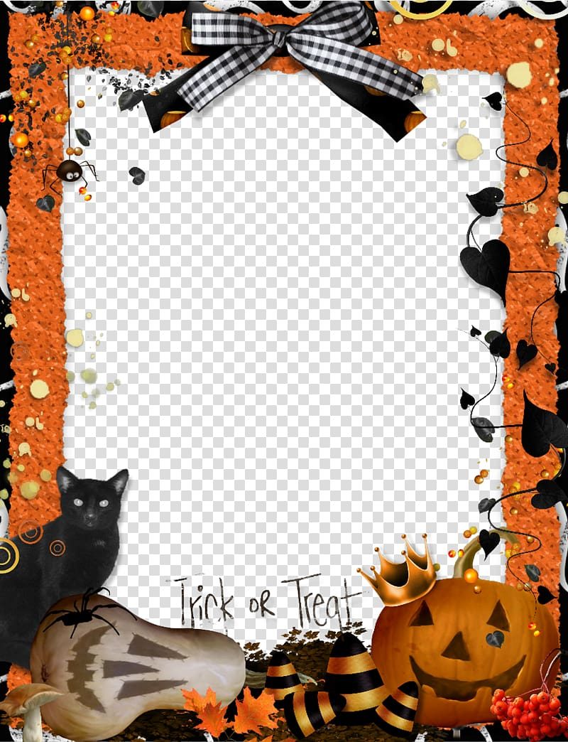 Halloween Frame Template Halloween Frames Trick Or Treating Craft Free Frame Halloween Transparent Background In 2020 Halloween Frames Halloween Borders Free Frames