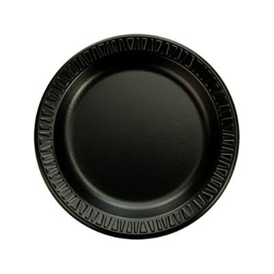 Add a look of elegance to your foodservice operation with Dart foam plastic dinnerware Available in a wide range of styles and sizes foam dinnerware is ...  sc 1 st  Pinterest & 6 inch Black Laminated Foam Plate 1000 CT | Restaurant Disposable ...